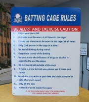 Batting Cage Rules