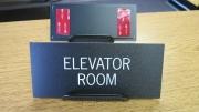 Elevator Room Sign