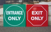 Entrance Exit Only