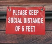 Please Keep Social Distance Banner