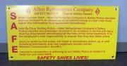Allen Refractories Safety Notice