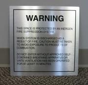 Brushed Silver Warning Sign
