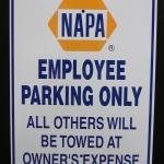 NAPA parking