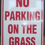 Aluminum Parking Sign