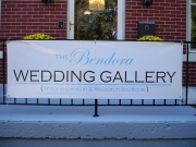 Wedding Gallery temporary banner sign