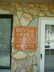 Rental Office Hours Sign