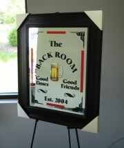 Black Room Mirror with Lettering