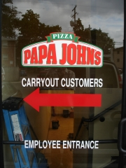 Papa Johns Window Graphic