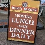 Rusty Bucket A Frame Sidewalk Sign