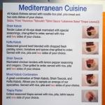 Mediterranean Menu