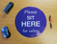 Sit Here for Safety