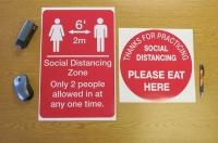 Social Distancing Zone Decals