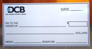 DCB Large check
