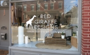 Red Giraffe Designs Window Lettering