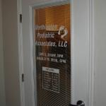 Doctor's Office Door Lettering