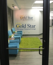Gold Star Mortgage Lettering and Sign