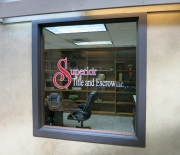 Superior Title Window Lettering