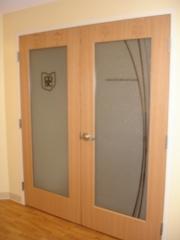 Office door cut glass vinyl