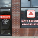 State Farm Window Lettering