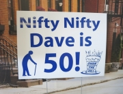 Dave is 50 Yard Sign
