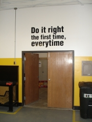 Do It Right - Wall Lettering
