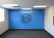 Hybrid Performance Wall Lettering
