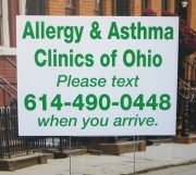 Allergy and Asthma Yard Sign
