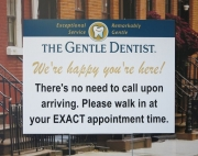 Gentle Dentist COVID Sign