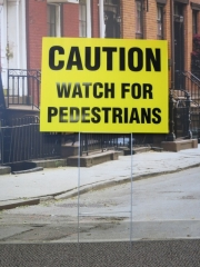 Caution Yard Sign