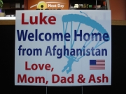 Custom Welcome Home Yard Sign