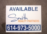 Smith Realty coroplast 2 color