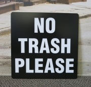 No Trash Please