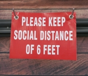 Please Keep Social Distance Banner