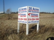 V Shape Commercial Real Estate Wood Sign
