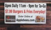 Applebees Covid Banner