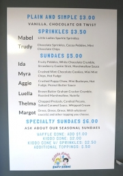Little Ladies Soft Serve Menu