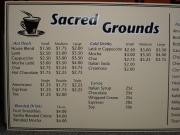 Coffee House Large Menu Board
