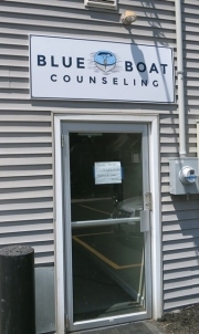 Blue Boat Counseling Outdoor Sign