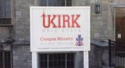 UKirk Sign Outside Indianola Presbyterian Church