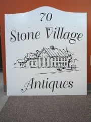 Stone Village Antiques Sign