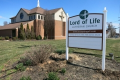 Lord of Life Church Sign