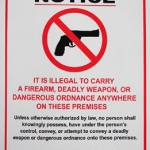 Gun Law Decals Thermal Printed UV protection