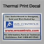 Thermal Print Decals for Long Term Use