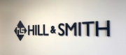 Hill and Smith Lobby Lettering