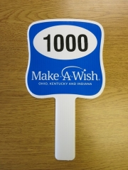 Make A Wish Auction Paddle