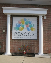 Peacox Sandblasted Sign