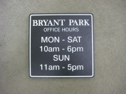 Bryant Park Polysign
