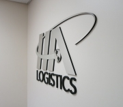 HA Logistics 3D Lettering Side