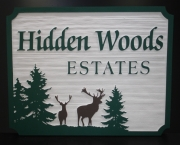 Sandblasted Neighborhood Sign