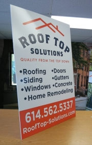 Rooftop Tabletop Sign